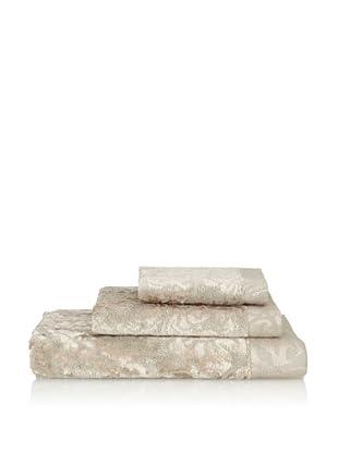 Famous International Art Deco-Scroll 3 Piece Towel Set (Copper)