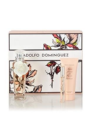 Adolfo Dominguez Estuche Agua Fresca De Rosas Blancas Edt 120 ml + Loción Corporal Hidratante 100 ml + Edt 10 ml