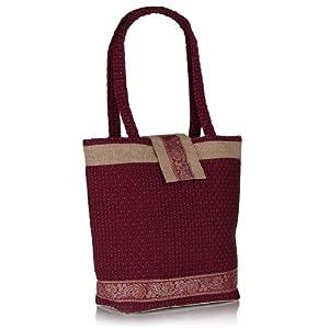 HS Jutecraft Red Handbag