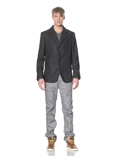 i.am Men's Two-Button Blazer with Trim (Charcoal Mix)