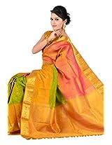 Kuberan Silks Women's Wedding Saree (Multicolor)