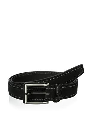 J.Campbell Los Angeles Men's Suede Stitched Belt (Black)