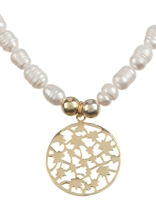 Silver One Collar Costellation Perlas