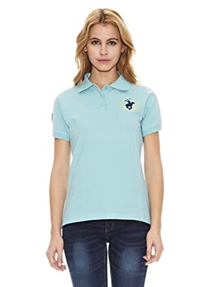 Polo Club Polo Manga Corta Custom Fit Hernando (Azul Celeste)