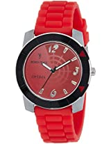 Optima Analog Red Dial Men's Watch - FT-ANL-2491