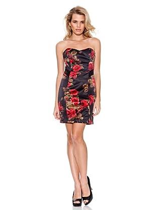 Guess Kleid Blumen (Schwarz/Rot)