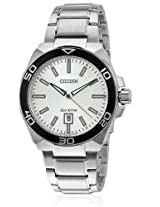 Citizen Eco-Drive Analog White Dial Men's Watch AW1190-53A