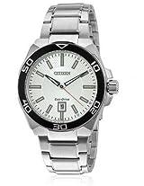 Citizen Eco-Drive Analog White Dial Men's Watch AW1190-53A