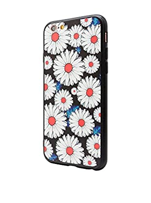 NUEBOO Hülle Flower iPhone 6/6S schwarz