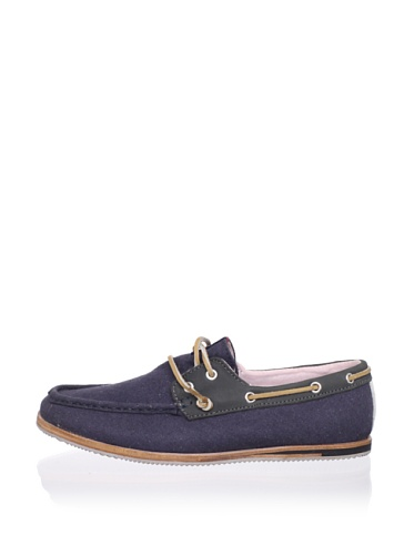 Ben Sherman Men's Adam Boat Shoe (Navy/Grey)