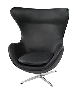 Manhattan Living Leather Inner Chair, Black