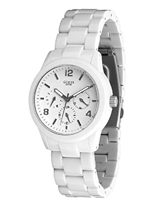 Guess W11603L1 - Reloj de Señora multifunción de policarbonato blanco