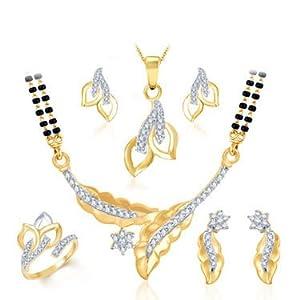 Combo of Sukkhi Royal Gold & Rhodium Plated CZ Jewellery