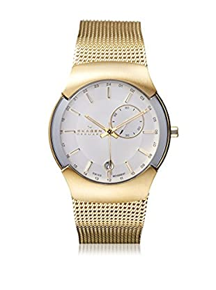 Skagen Men's 983XLGG Black Label Gold Tone/Silver Stainless Steel Watch