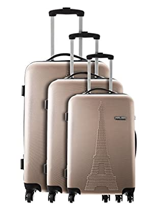 Platinium Set 3 Trolley 4 Ruedas Paris (Beige)