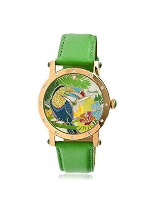 Bertha Women's BTHBR4403 Gisele Green/Multicolor Leather Watch