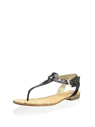 Elaine Turner Women's Mara Thong Sandal (Black)