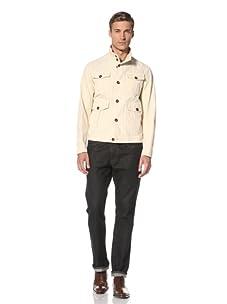 Pal Zileri Lab Men's Button-Front 4 Pocket Jacket (Cream)