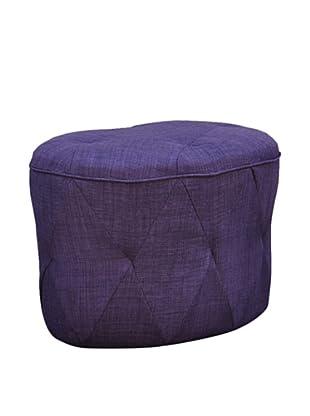 International Design USA Luxe Tufted Ottoman, Purple