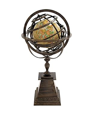 Encased World Globe on Stand