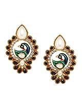 Bindhani Traditional Black Peacock Earrings For Women