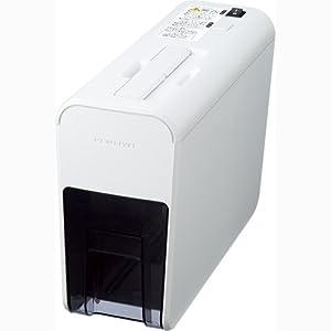 コクヨS&T 超静音 コンパクト シュレッダー RELISH pix 2リットル (約幅11×奥行31cm) ハイセキュリティ細断(2×11mm) ホワイト KPS-X21W