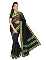 Korni Cotton Silk Banarasi Saree ISL-2561- Black KR0481