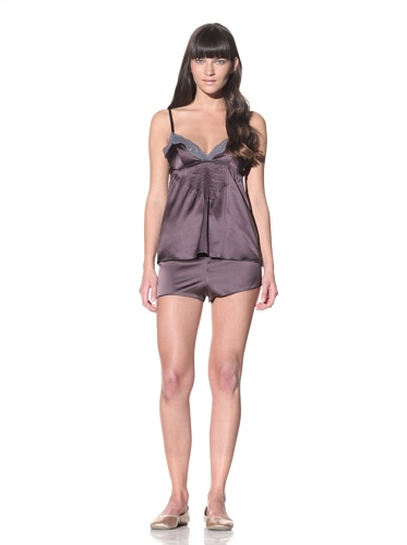 MARNI Women's Lace-Trimmed Camisole (Purple Grey)