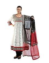 Kaalika Women's Cotton Salwar Suit (K-787-Freesize-off-White/Red _Red _Free Size)