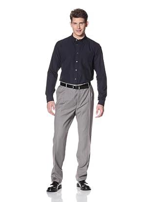 Hart Schaffner Marx Men's Single Reverse Pleat Trouser (Black)