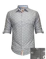 Spykar Grey Casual Shirt
