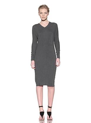 Calvin Klein Collection Women's Avari V-Neck Long Sleeve Dress (Grey)