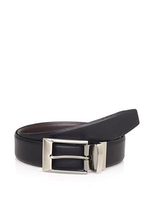 Van Heusen Men's Non-Stitched & Beveled Reversible Strap Belt (Black/brown)