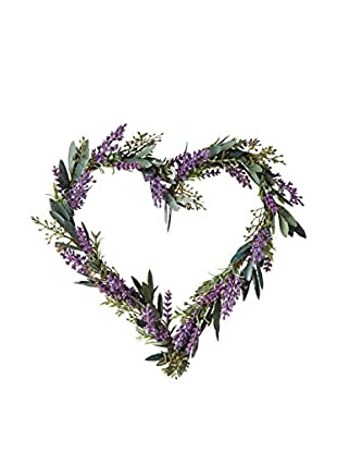 Sage & Co. Lavender Heart Wreath