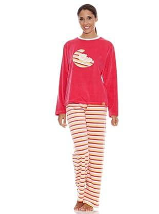 Blue Dreams Pijama Señora Tundosado (frambuesa)