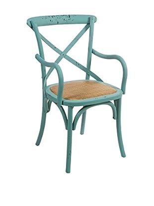 Colonial Style Stuhl blau