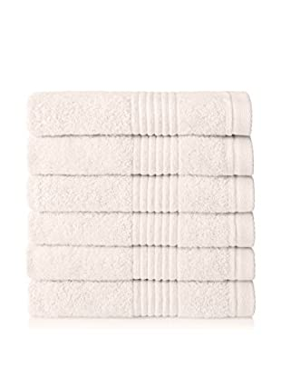 Chortex Set of 6 Ultimate Hand Towels, Cream