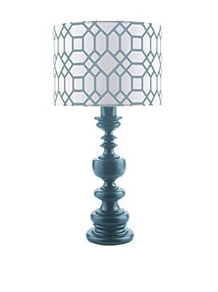 Surya Wilson Outdoor Table Lamp, Blue
