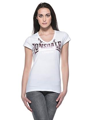 Lonsdale Camiseta Jenny (Blanco / Rosa)