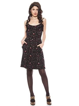 La Casita de Wendy Vestido Estampado Llamas (negro)