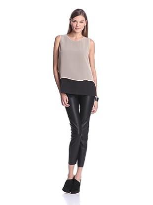 Calvin Klein Women's Sleeveless Combo Top (Tan)
