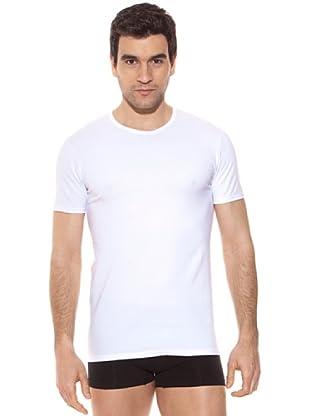 Kappa Camiseta mc Caballero Cuello Redondo Algodón Elástico (Blanco)