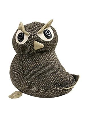 Owl Door Stopper, Grey