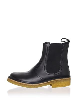 Swedish Hasbeens Women's Chelsea Boot (Black/nature)