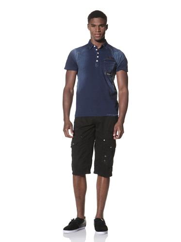 Projek Raw Men's Short Sleeve Polo Knit (Indigo)