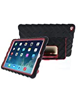 Gumdrop Cases Hideaway Rugged Case with Stand for Apple iPad Air 2 (Black-Red)