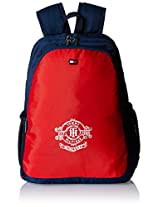 Tommy Hilfiger Red & Navy Blue Casual Backpack (TH/BTS08WEL)