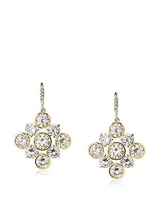 CZ by Kenneth Jay Lane Snowflake CZ Dangle Earrings