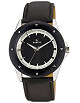 Aveiro Analog Black Dial Men's Watch - AV80BLKBRN