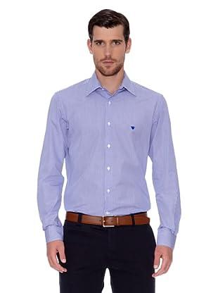 Caramelo Camisa Jean-Yves· (Azul)